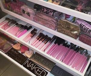 girls, make up, and pink image