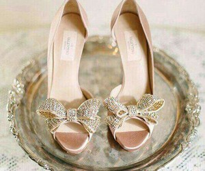 glitter, gold, and shoes image