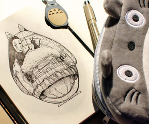 drawing, kawaii, and studio ghibli image