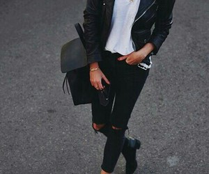 black&white, clothes, and outfit image