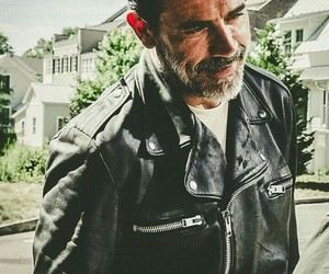 the walking dead, negan, and jeffrey dean morgan image