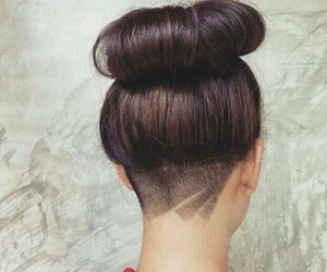 undercut, hair, and hairstyle image