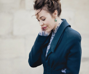 coat, hair, and fashion image