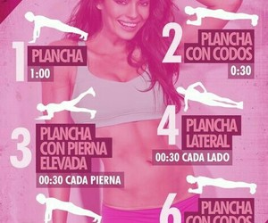 fitness, exercise, and plancha image
