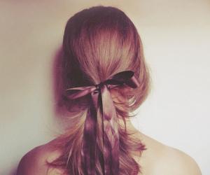 hair, girl, and bow image