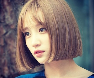 bob, korean girl, and hair style image