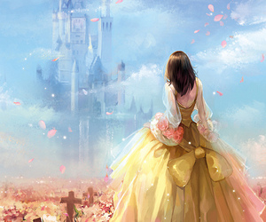 princess, castle, and anime image