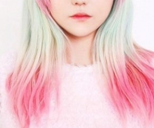 colores, hair, and pink image