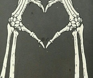 love, heart, and bones image
