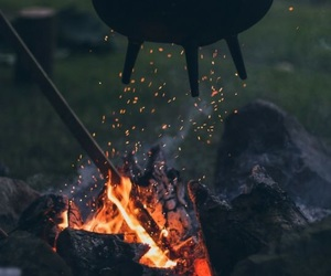 magic, fire, and witch image