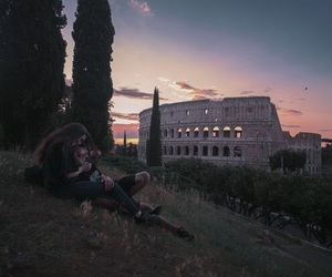couple, rome, and love image