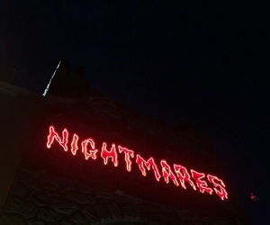 red, nightmare, and neon image