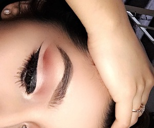 eyeliner, cut crease, and morphe image