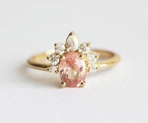 etsy, jewelry, and oval engagement ring image