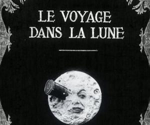 moon, Le Voyage dans la Lune, and vintage image