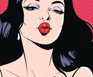 pop art, kiss, and art image