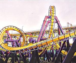 amusement park, fun, and mosaic image