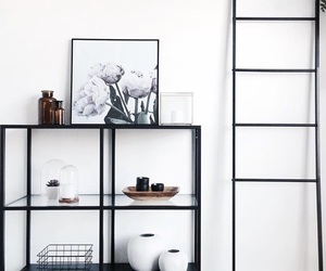 black, decor, and furniture image