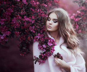 beautiful, flowers, and dress image