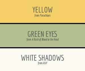 albums, green eyes, and Parachutes image