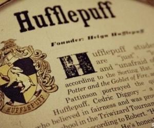 hufflepuff, hogwarts, and harry potter image