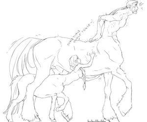 art, boy, and centaur image