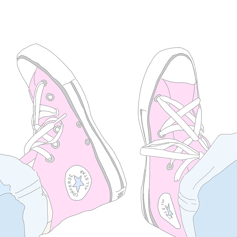 converse, fashion, and illustration image