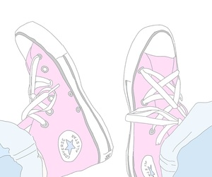 converse, fashion, and illustration image