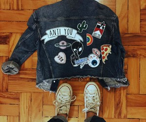 jacket, clothes, and jeans image