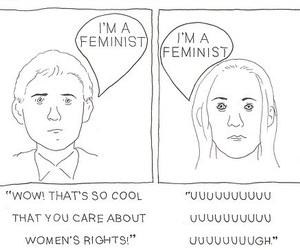 feminism, feminist, and boy image