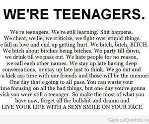 teenager, quote, and life image