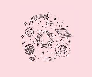 wallpaper, pink, and space image