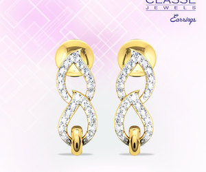 gold, diamondearrings, and namasteclasse image