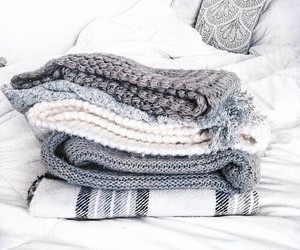 scarf, bed, and cozy image
