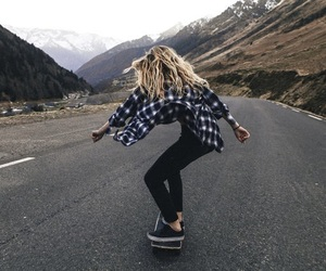 skate, skateboarding, and skateboard image