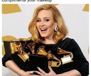 Adele, award, and funny image