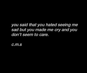 sad, quote, and cry image