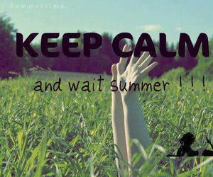 keep calm, wait, and summer image