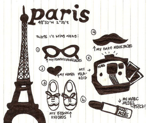 paris, eiffel tower, and lipstick image