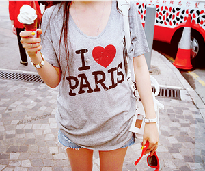 paris, ice cream, and ı love paris image