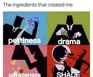 funny, drama, and shade image