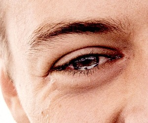 Harry Styles, eye, and another man image