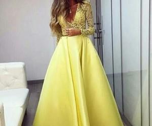 Jaune, robe, and soie image