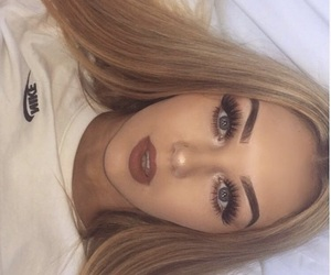 makeup, fashion, and blonde image