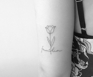 tattoo, family, and flower image