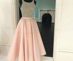 dress, prom dress, and pink prom dresses image