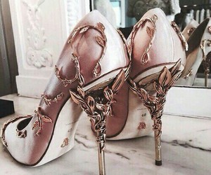 fashion, high+heels, and rose+gold image