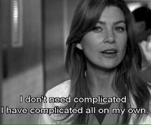 grey's anatomy, complicated, and black and white image