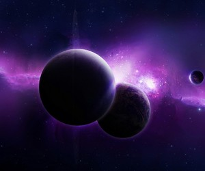 planet, purple, and universe image