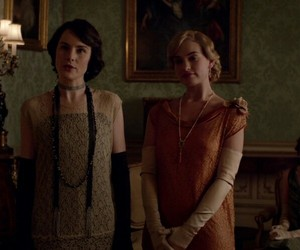 lily james, lady edith crawley, and downton abbey image